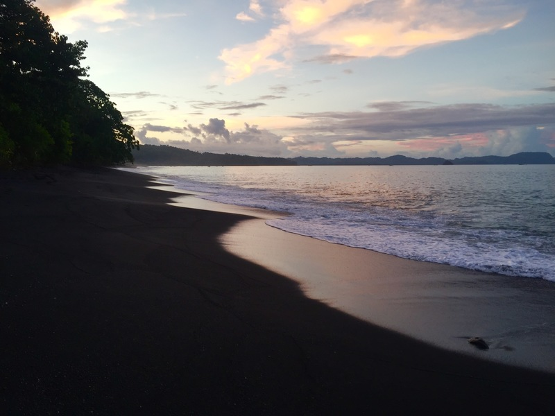 Black Sand Beach at sunset