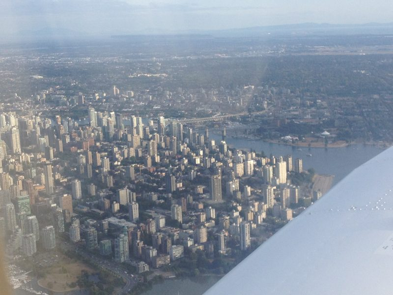 Vancouver from a plane