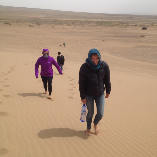 Starting the misson up the dunes