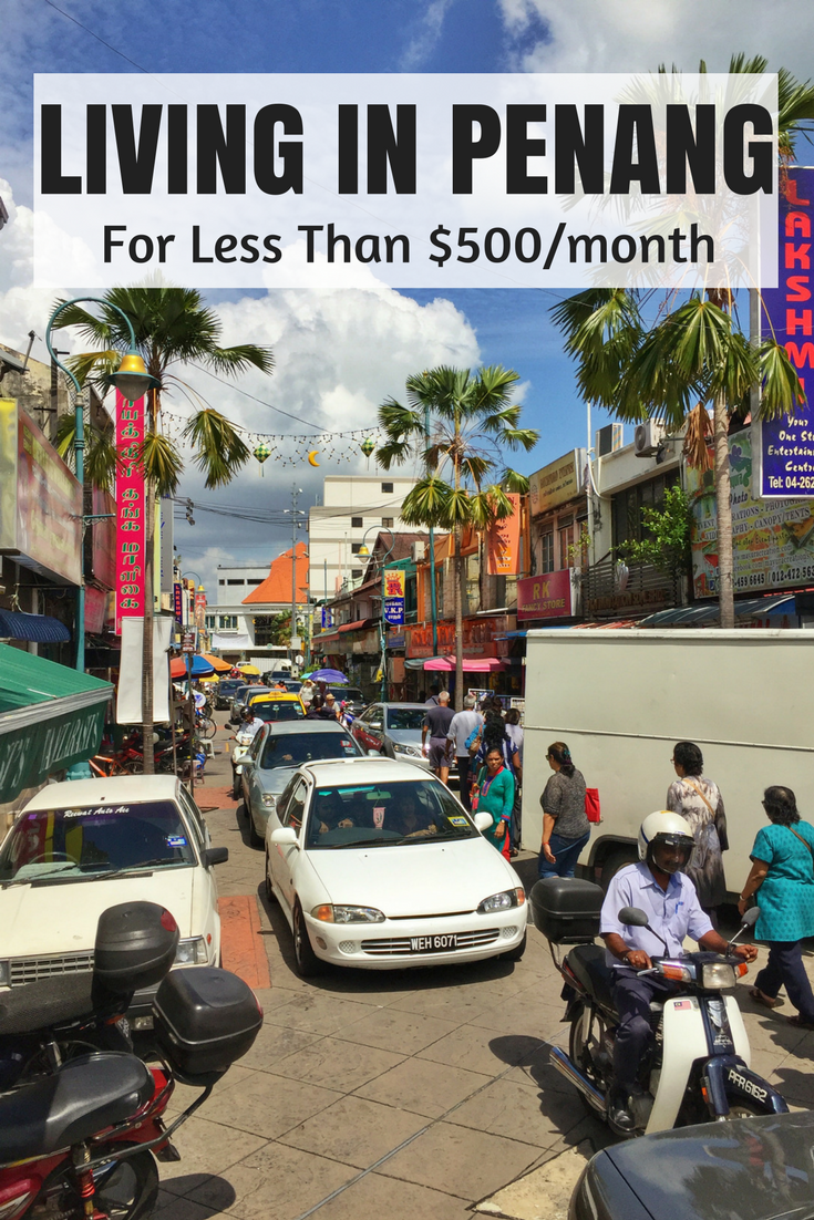 how much to live in penang