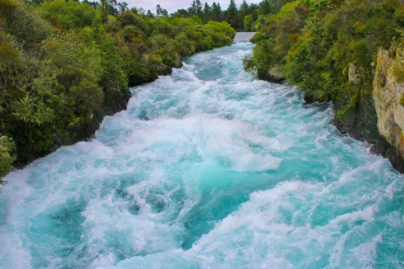 huka falls waterfall new zealand