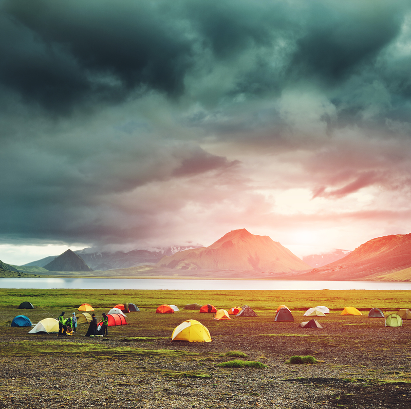 camping and trekking in iceland