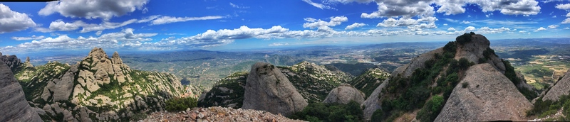 panoramic view of Montserrat