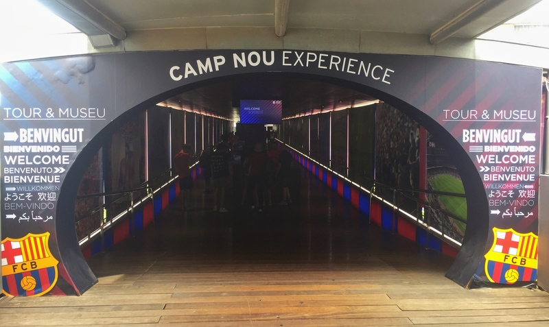 camp nou tour entrance