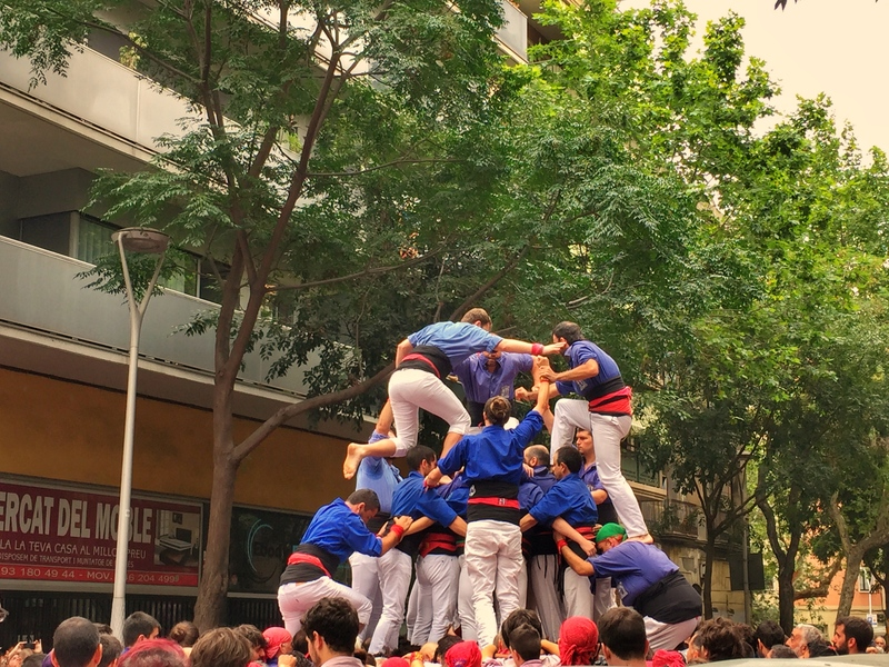 growing human tower