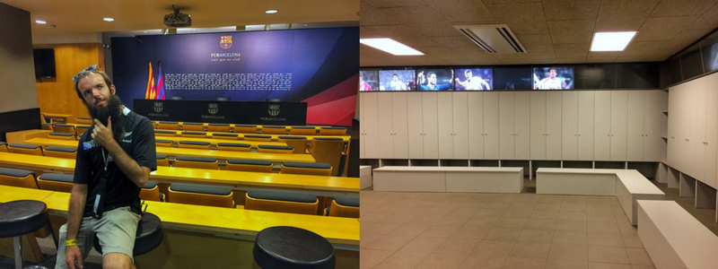 media room and changing rooms.