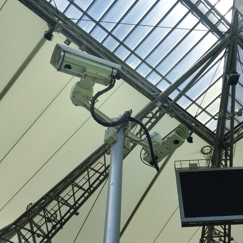 legia warsaw security cameras at polish army stadium