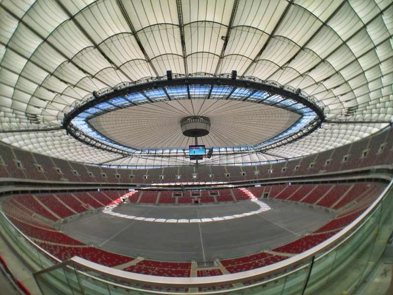 fish eye view of a stadium