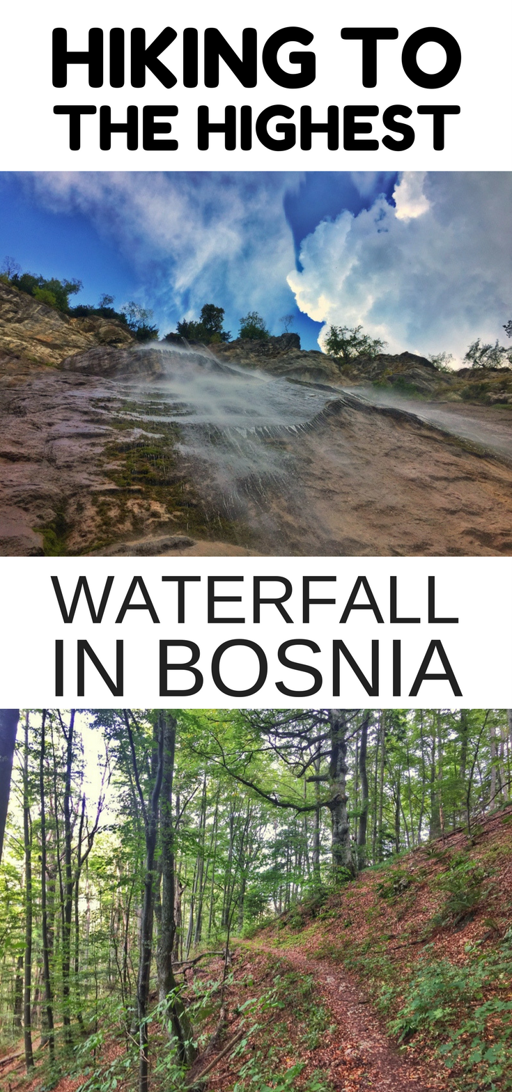 the highest waterfall in bosnia
