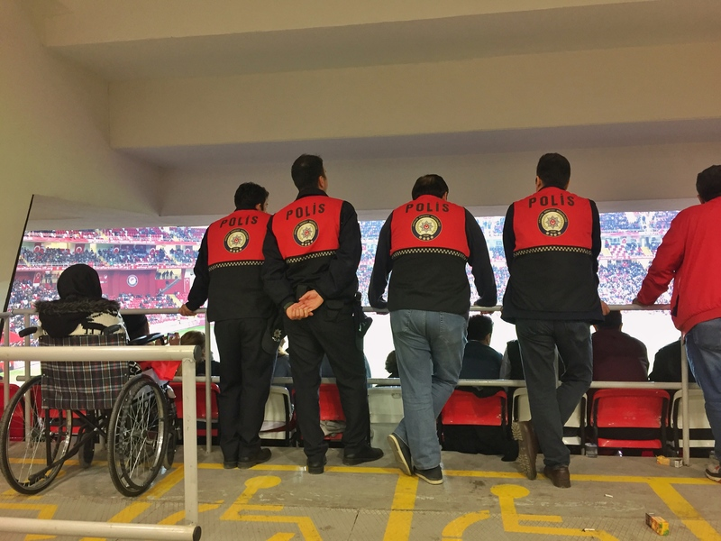 police at the football in turkey