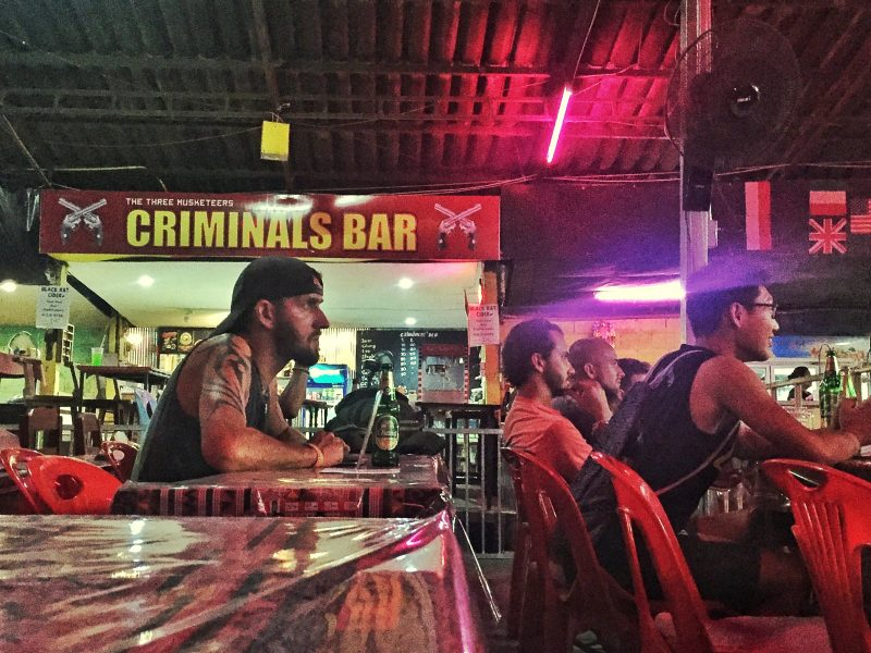 criminals bar at thaepae boxing stadium