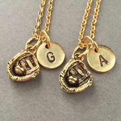 best friend necklace baseball