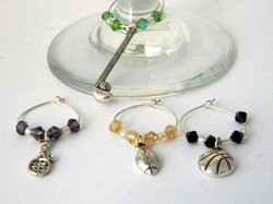 wine charms for football