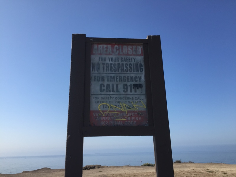 no trespassing at sunken city
