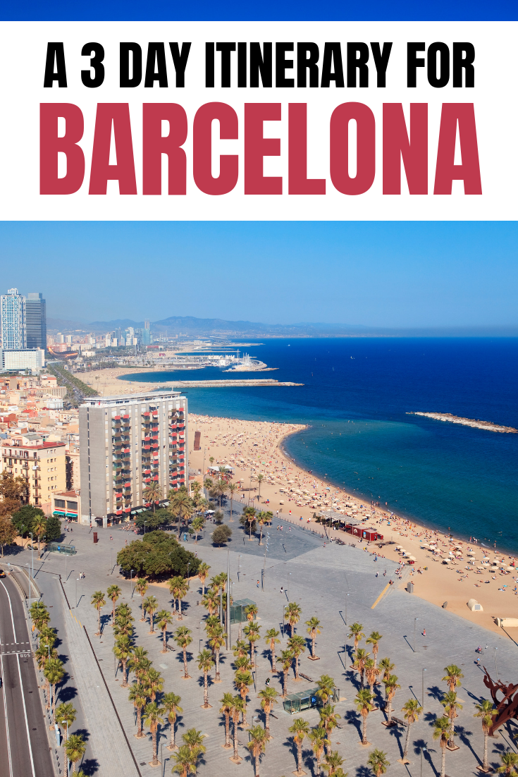 image for pinterest about 3 days in barcelona