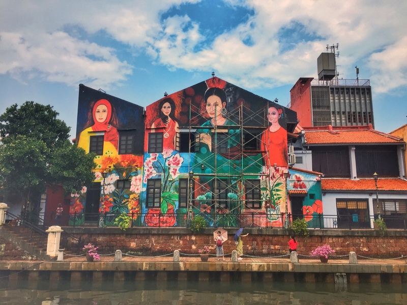 river side street art in malaysia
