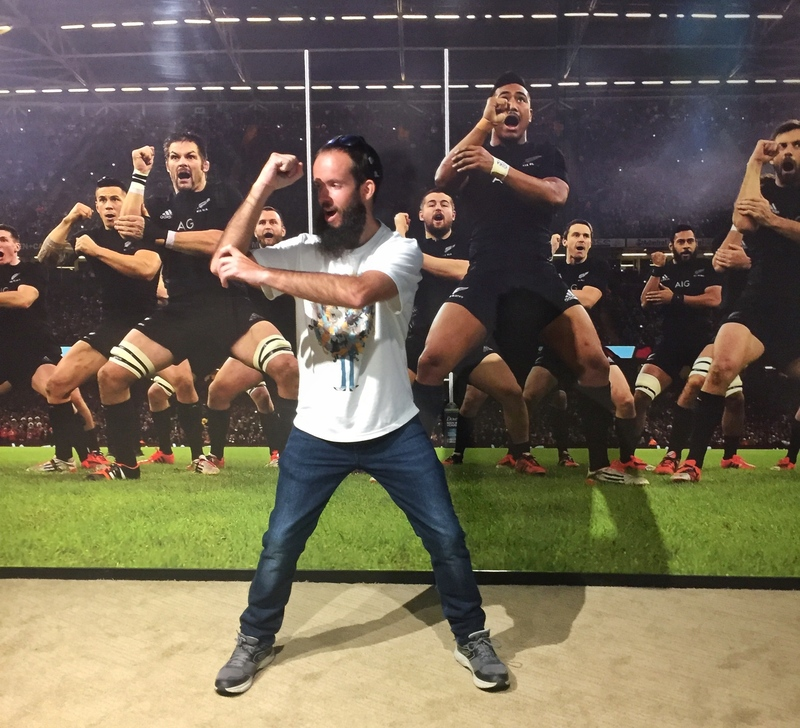 haka at the rugby museum